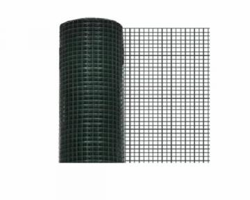 Tvoros tinklas, virintas žalias 25mmx25mmx5mx1,0m (2,2mm) Tvoros tinklai suvirinti plastifikuoti