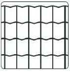 Welded mesh Euro Frence 100x75x2,2x1500mm 25m Fences nets welded Plasticised