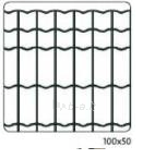 Welded mesh Euro Frence 100x50x2,2x25x1500mm Fences nets welded Plasticised