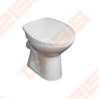 Toilet withaut tank right runoff, horizontal trap