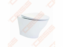 Toilet IDO Glow Rimfree, withspended, with slow rectractable cover