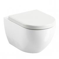 Toilet withspended Ravak, Uni Chrome Rim Lavatory closets
