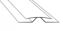 Kampas universalus lankstomas PVC dailylenčių 3 m. dekoruotas