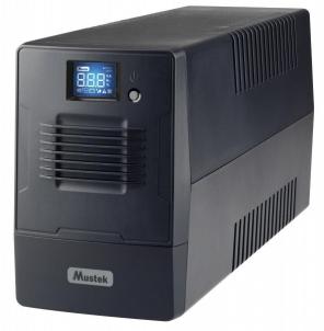 UPS - nepertraukiamo maitinimo šaltinis Mustek PowerMust 600 LCD Line Int. Schuko Ups elektroapgāde.