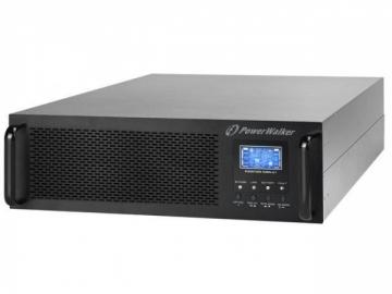 UPS - nepertraukiamo maitinimo šaltinis Power Walker UPS On-Line 10000VA, Rack 19 LCD, Terminal, UPS 3U + BP 2U