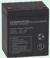 UPS keičiama baterija/akumuliatorius Europower rechargeable battery 12V/5Ah T2 (6,35mm) UPS priedai