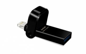USB atmintukas Adata i-Memory Flash Drive AI920, 64GB, Lightning / USB 3.1 Gen1, black
