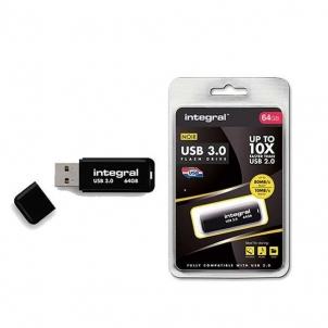 USB atmintukas Integral Flashdrive NOIR 64GB USB3.0 110/20 MB/s r/w