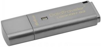 USB atmintukas KINGSTON DT LOCKER+ G3 64GB 3.0
