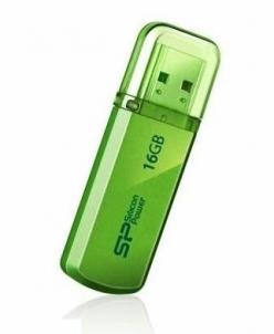 USB atmintukas Silicon Power memory USB Helios 101 16GB USB 2.0 Green