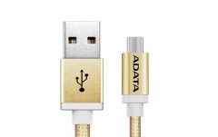 USB laidas ADATA USB type-A , charge and sync data on Android, gold