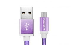 USB laidas ADATA USB type-A , charge and sync data on Android, purple