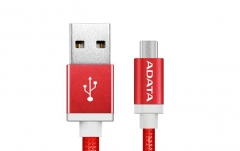 USB laidas ADATA USB type-A , charge and sync data on Android, red