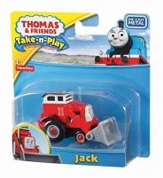 Traktoriukas V1297 / T0929 Fisher Price THOMAS & FRIENDS Take-n-Play JACK Geležinkelis vaikams