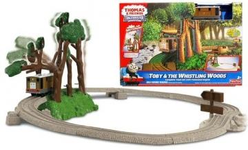 Konstruktorius V6753 Fisher Price Thomas & Friends TRACKMASTER Toby & Whistling Woods Geležinkelis vaikams