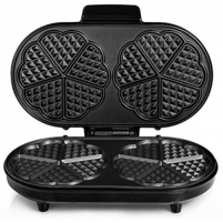 Vaflinė Tristar WF-2120 Waffle maker, 10 heartwaffles per session, Non-stick coating, Adjustable thermostat, Stainless steel housing Electric pans