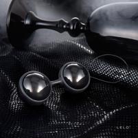 Vaginaliniai rutuliukai LELO Luna Mini (juodi) Vaginaliniai kamuoliukai