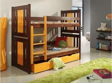 Vaikiška Dviaukštė Lova KORNEL Vaikiškos lovos