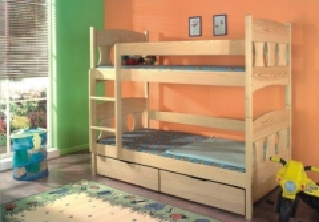 Vaikiška Dviaukštė Lova WIKTOR Vaikiškos lovos