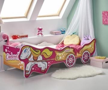 Vaikiška lova su reguliuojamo ilgio funkcija CINDERELLA Vaikiškos lovos