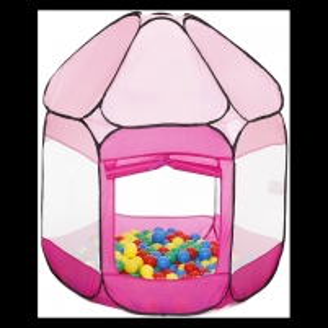Vaikiška palapinė Ballebad- with 250 balls pink/for girls
