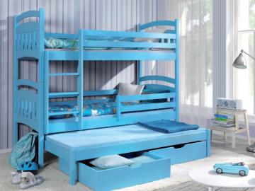 Vaikiška Trivietė Lova JAKUB III Vaikiškos lovos