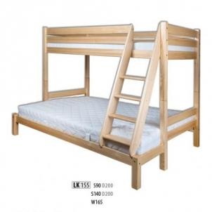 Vaikiška Trivietė Lova LK155-S90 Vaikiškos lovos