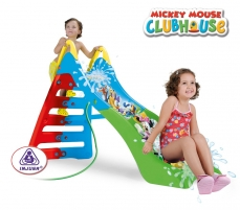 Vaikiška vandens čiuožykla 180 cm ilgio slydimo takas | Mickey mouse club house | Injusa