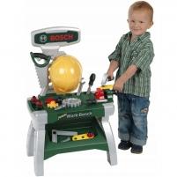 Vaikiškas darbastalis su 20 priedų | Bosch Junior | Klein Rotaļlietas zēniem