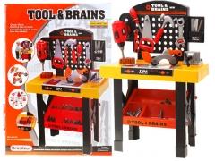 Vaikiškas darbo stalas su įrankiais