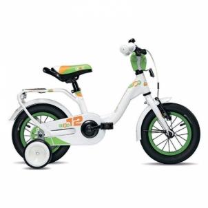 Vaikiškas dviratis niXe alloy 1 speed-white/green 12 Velosipēdi bērniem