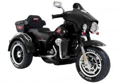 "Vaikiškas elektrinis motociklas ""ABM5288"", juodas Automašīnas bērniem"