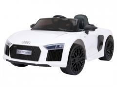 """Vaikiškas elektromobilis """"AUDI R8 Spyder"""", baltas Automobiliai vaikams"""