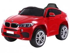 Vaikiškas elektromobilis BMW X6, raudonas Automobiliai vaikams