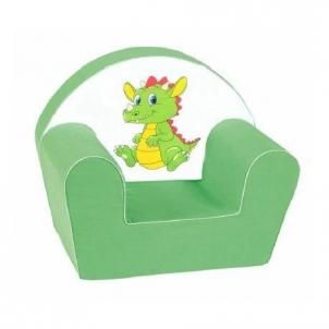 Vaikiškas fotelis Drakoniukas Foteliai, sėdmaišiai vaikams