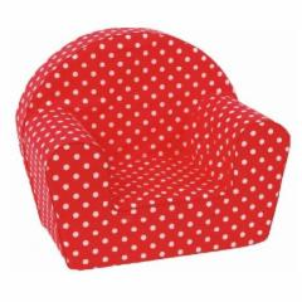 Vaikiškas foteliukas Raudoni taškiukai Foteliai, sėdmaišiai vaikams