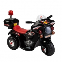 Vaikiškas juodas motociklas su šoniniais ratukais (WDLQ998) Automašīnas bērniem
