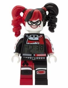Vaikiškas laikrodis Lego Batman Movie Harley Guinn - žadintuvas Vaikiški laikrodžiai