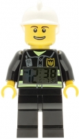 Vaikiškas laikrodis Lego City Fireman Minifigure Clock