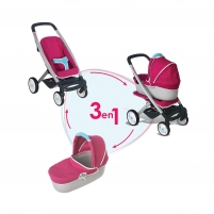 Vaikiškas lėlių vežimėlis | 3 in 1 | Smoby
