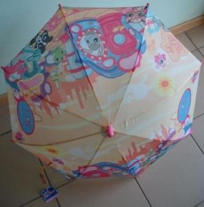 Vaikiškas skėtis Littlest Pet Shop 70cm x 55cm mechaninis Skėčiai