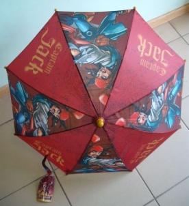 Vaikiškas skėtis Pirates of Caribbean Captain Jack 70cm x 55cm mechaninis Skėčiai