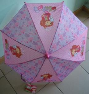 Vaikiškas skėtis Strawberry girl 70cm x 55cm mechaninis Skėčiai