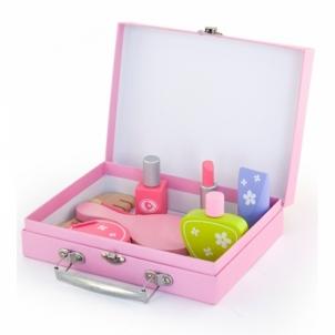 Vaikiškas medinis kosmetikos lagaminas su priedais | Viga Toys