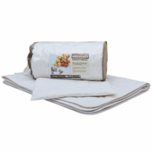 Vaikiškas medvilnės rinkinys (antklodė + pagalvė), 100x135 cm Antklodės