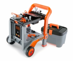 Vaikiškas meistro vežimėlis su dėže | Black & Decker  3in1 | Smoby Toys for boys