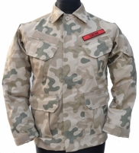 Vaikiškas munduras, dykumos Kariškos jakas, žaketes