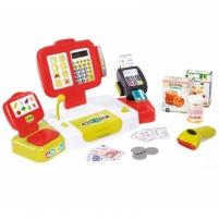 Vaikiškas raudonas elektroninis kasos aparatas 27 vnt   Smoby