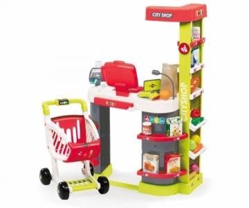 Vaikiškas raudonas supermarketas su kasa | City Shop 2016 | Smoby