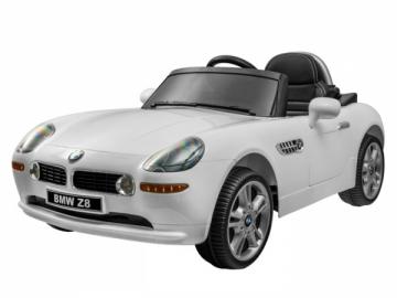 Vaikiškas vienvietis elektromobilis BMW Z8; baltas Automobiliai vaikams